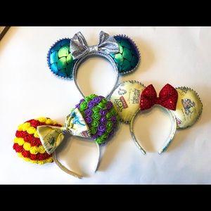 🎀 3 Disney Minnie Mouse Ears 🐭